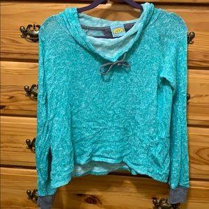 Aqua cowel neck C&C sweater